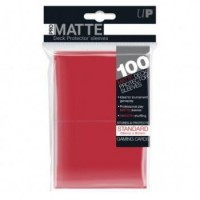 UP___Standard_Deck_Protector___PRO_Matte_Red__100_Sleeves_